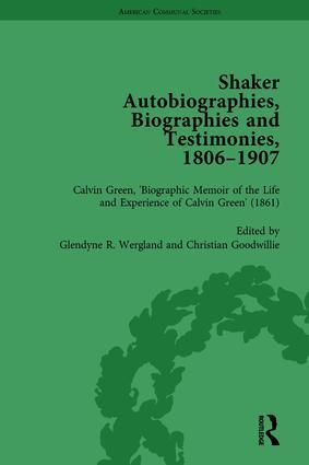 Shaker Autobiographies, Biographies and Testimonies, 1806