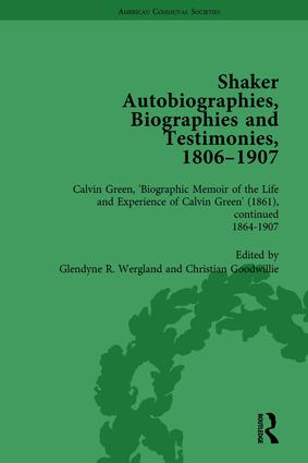 Shaker Autobiographies, Biographies and Testimonies, 1806-1907 Vol 3: 1st Edition (Hardback) book cover