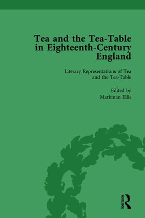 Tea and the Tea-Table in Eighteenth-Century England Vol 1: 1st Edition (Hardback) book cover