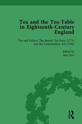 Tea and the Tea-Table in Eighteenth-Century England Vol 4: 1st Edition (Hardback) book cover