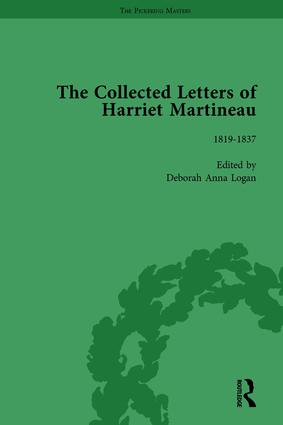 The Collected Letters of Harriet Martineau Vol 1: 1st Edition (Hardback) book cover