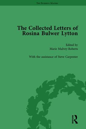 The Collected Letters of Rosina Bulwer Lytton Vol 1: 1st Edition (Hardback) book cover