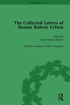 The Collected Letters of Rosina Bulwer Lytton Vol 2: 1st Edition (Hardback) book cover