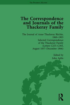 The Correspondence and Journals of the Thackeray Family Vol 2: 1st Edition (Hardback) book cover