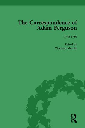 The Correspondence of Adam Ferguson Vol 1: 1st Edition (Hardback) book cover