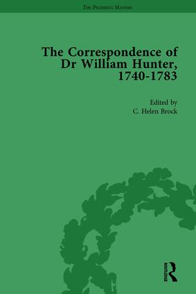 The Correspondence of Dr William Hunter Vol 1: 1st Edition (Hardback) book cover