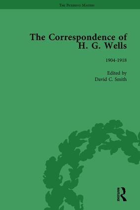 The Correspondence of H G Wells Vol 2: 1st Edition (Hardback) book cover