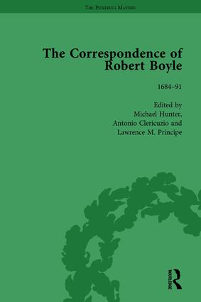 The Correspondence of Robert Boyle, 1636-1691 Vol 6: 1st Edition (Hardback) book cover