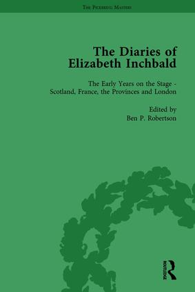 The Diaries of Elizabeth Inchbald Vol 1: 1st Edition (Hardback) book cover