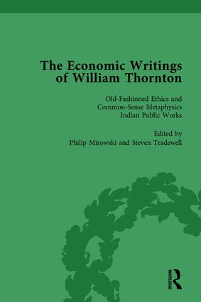 The Economic Writings of William Thornton Vol 5: 1st Edition (Hardback) book cover