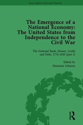 The Emergence of a National Economy Vol 3: The United States from Independence to the Civil War book cover