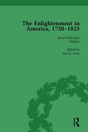 The Enlightenment in America, 1720-1825 Vol 3: 1st Edition (Hardback) book cover