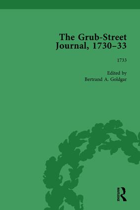 The Grub Street Journal, 1730-33 Vol 4: 1st Edition (Hardback) book cover