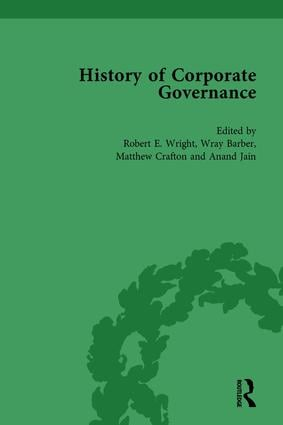 The History of Corporate Governance Vol 1: The Importance of Stakeholder Activism book cover