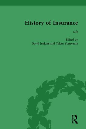 The History of Insurance Vol 6: 1st Edition (Hardback) book cover