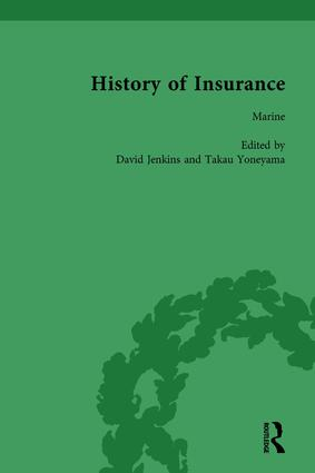 The History of Insurance Vol 8: 1st Edition (Hardback) book cover