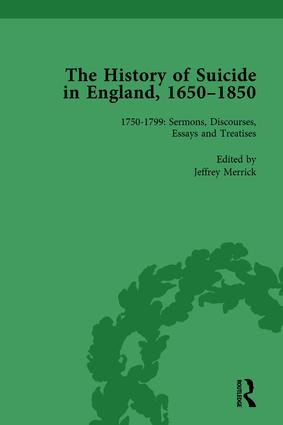 The History of Suicide in England, 1650–1850, Part II vol 5: 1st Edition (Hardback) book cover