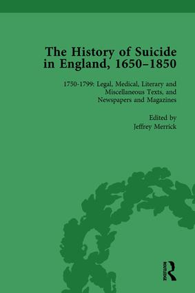 The History of Suicide in England, 1650–1850, Part II vol 6: 1st Edition (Hardback) book cover