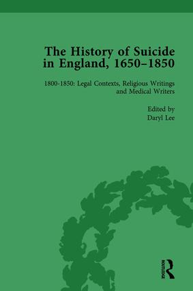The History of Suicide in England, 1650–1850, Part II vol 7: 1st Edition (Hardback) book cover