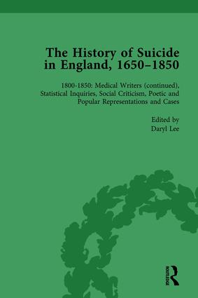 The History of Suicide in England, 1650–1850, Part II vol 8: 1st Edition (Hardback) book cover