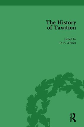 The History of Taxation Vol 1: 1st Edition (Hardback) book cover