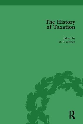 The History of Taxation Vol 2: 1st Edition (Hardback) book cover