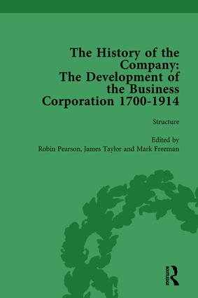 The History of the Company, Part II vol 6: Development of the Business Corporation, 1700-1914, 1st Edition (Hardback) book cover
