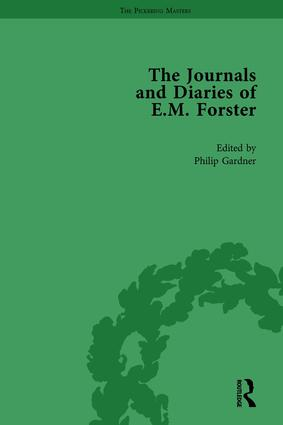 The Journals and Diaries of E M Forster Vol 1: 1st Edition (Hardback) book cover