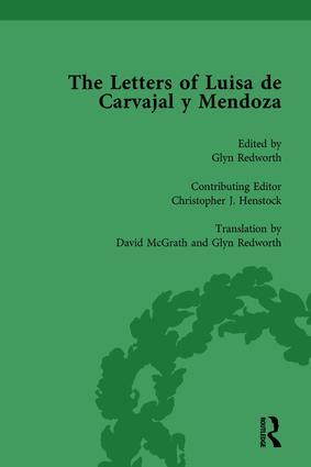 The Letters of Luisa de Carvajal y Mendoza Vol 1: 1st Edition (Hardback) book cover