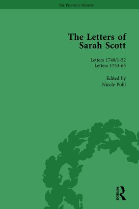 The Letters of Sarah Scott Vol 1: 1st Edition (Hardback) book cover