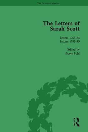 The Letters of Sarah Scott Vol 2: 1st Edition (Hardback) book cover
