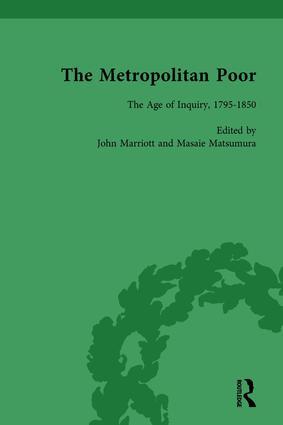 The Metropolitan Poor Vol 1: Semifactual Accounts, 1795–1910, 1st Edition (Hardback) book cover