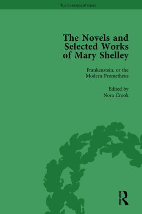The Novels and Selected Works of Mary Shelley Vol 1: 1st Edition (Hardback) book cover
