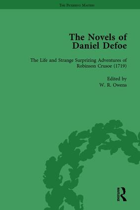 The Novels of Daniel Defoe, Part I Vol 1: 1st Edition (Hardback) book cover