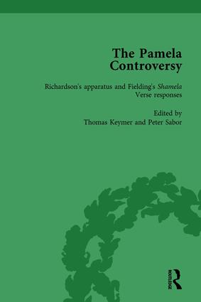 The Pamela Controversy Vol 1: Criticisms and Adaptations of Samuel Richardson's Pamela, 1740-1750, 1st Edition (Hardback) book cover