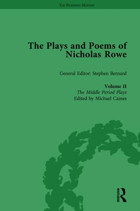 The Plays and Poems of Nicholas Rowe, Volume II: The Middle Period Plays book cover
