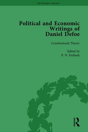The Political and Economic Writings of Daniel Defoe Vol 1: 1st Edition (Hardback) book cover