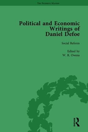 The Political and Economic Writings of Daniel Defoe Vol 8: 1st Edition (Hardback) book cover