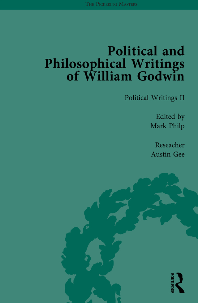 The Political and Philosophical Writings of William Godwin vol 2: 1st Edition (Hardback) book cover