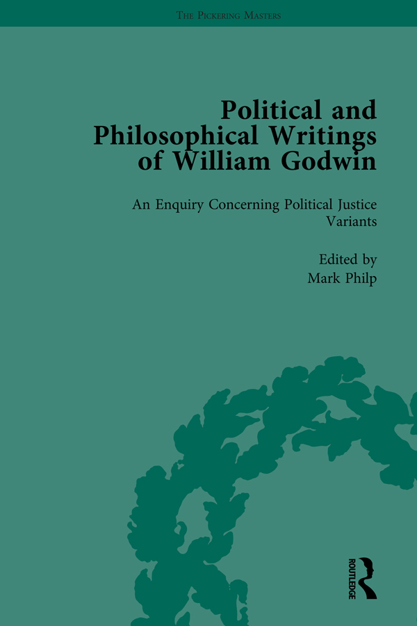 The Political and Philosophical Writings of William Godwin vol 4: 1st Edition (Hardback) book cover
