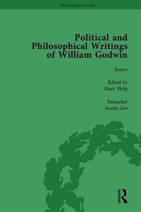 The Political and Philosophical Writings of William Godwin vol 6: 1st Edition (Hardback) book cover