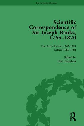 The Scientific Correspondence of Sir Joseph Banks, 1765-1820 Vol 1: 1st Edition (Hardback) book cover