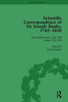 The Scientific Correspondence of Sir Joseph Banks, 1765-1820 Vol 3: 1st Edition (Hardback) book cover