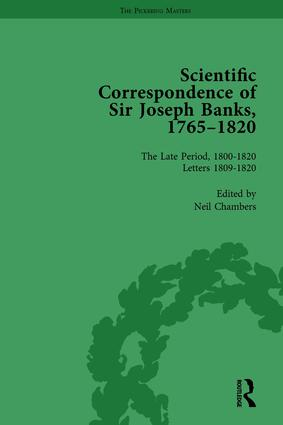 The Scientific Correspondence of Sir Joseph Banks, 1765-1820 Vol 6: 1st Edition (Hardback) book cover