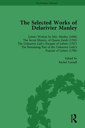 The Selected Works of Delarivier Manley Vol 1: 1st Edition (Hardback) book cover