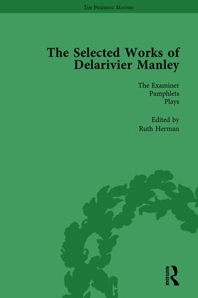 The Selected Works of Delarivier Manley Vol 5: 1st Edition (Hardback) book cover