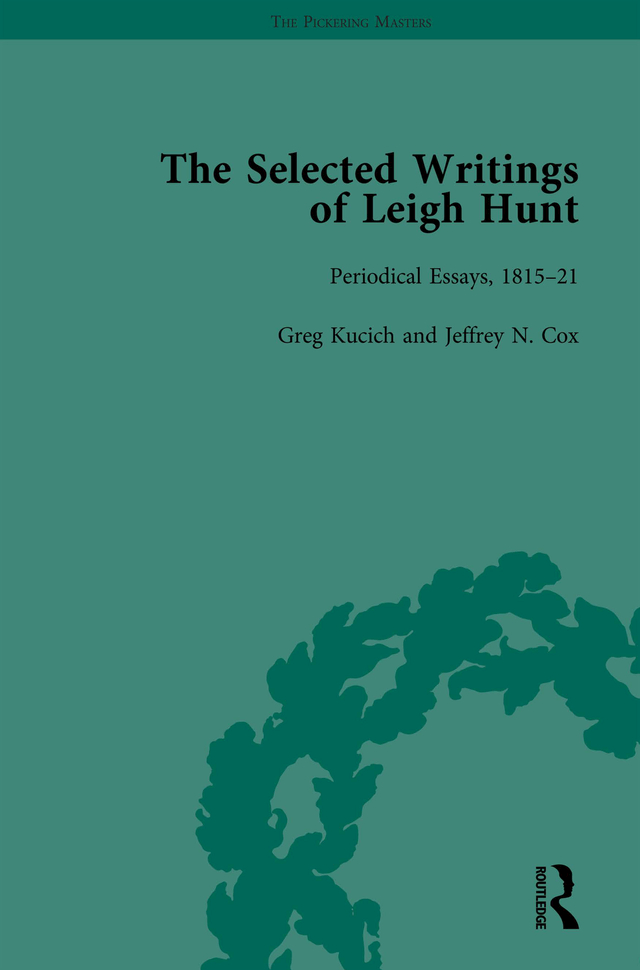 The Selected Writings of Leigh Hunt Vol 2: 1st Edition (Hardback) book cover