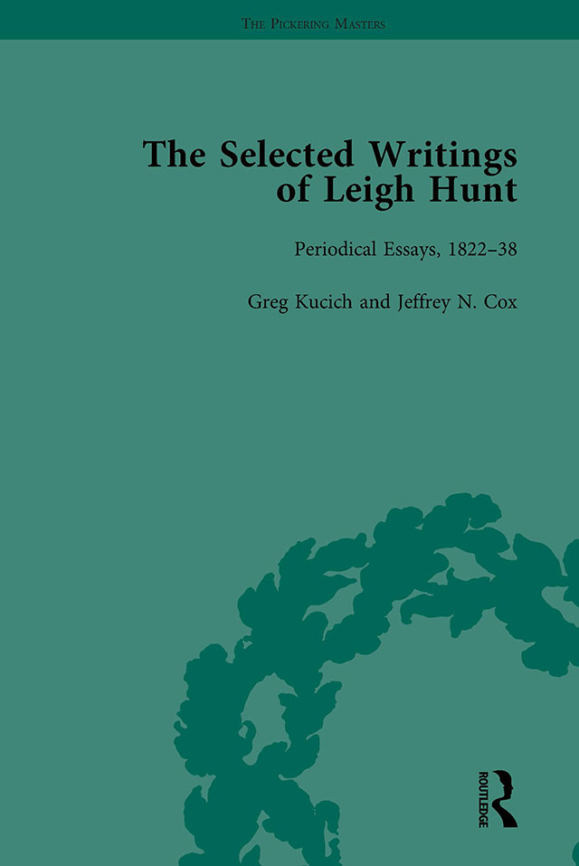The Selected Writings of Leigh Hunt Vol 3: 1st Edition (Hardback) book cover