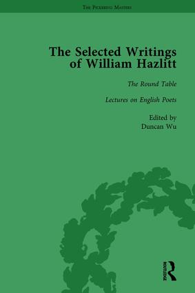 The Selected Writings of William Hazlitt Vol 2: 1st Edition (Hardback) book cover