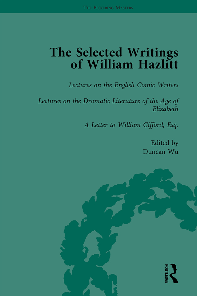The Selected Writings of William Hazlitt Vol 5: 1st Edition (Hardback) book cover